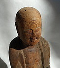 Japanese Antique Wooden Buddhist Statue Edo or Earlier