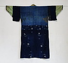 Japanese Vintage Textile Cotton Boro Noragi or Juban
