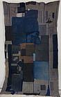 Japanese Vintage Textile Boro Cotton Stripe Futonji