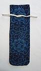 Japanese Antique Textile Cotton Katazome Bag for Money