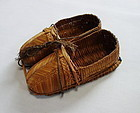 Japanese Vintage Folk Craft Shoes Made of Rice Straw