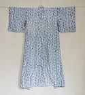 Japanese Vintage Textile Woman's Cotton Kimono with Shibori