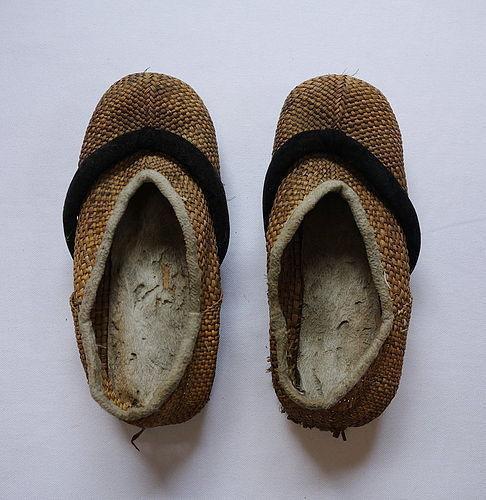 Japanese Vintage Mingei Craft Shoes Made of Straw, Hemp etc