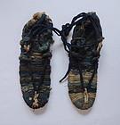 Japanese Vintage Folk Craft Waraji Straw Sandals with Sakiori
