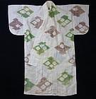 Japanese Vintage Textile Momoyama Style Asa kimono