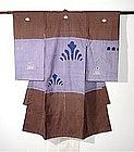 Japanese Textile Baby's Kimono With Semamori Charm