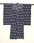 Japanese Antique Textile Omi-kasuri  Asa Child's Kimono
