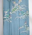 Japanese Vintage Textile Crepe Summer Woman's Kimono