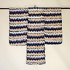 Japanese Vintage Textile Child's Shibori Kimono