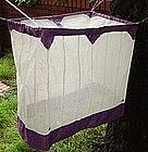 Japanese Vintage Textile Miniature Asa Kaya Purple