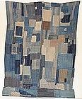 Japanese Antique Textile Boro Futon Cover Meiji