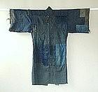 Japanese Antique Textile Boro Cotton Man's Kimono