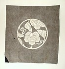 Japanese Antique Textile  Large Furoshiki Gray
