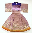 Japanese Antique Textile Costume Of Bunraku Puppet Show