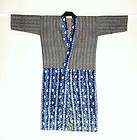 Japanese Vintage Textile Cotton Noragi With Shibori