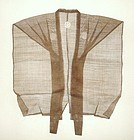 Japanese Antique Textile Asa Kataginu Brown