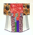 Japanese Antique Textile Hagi-isho Juban Under Kimono