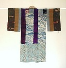 Japanese Antique Textile Silk Hagi-isho Juban