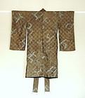 Japanese Antique Textile Silk Boy's Festive Kimono