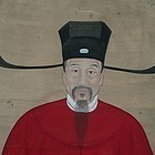 Large 19th C Chinese Ancestor Painting from Scroll