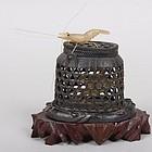 Japanese Horn Crayfish with Crab and Basket Okimono