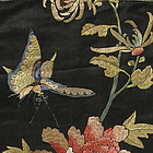 Chinese Silk Embroidered Panel with Butterfly, 19th C