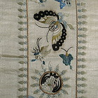 Pair of Chinese Silk Embroidered Sleeve Bands
