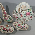 Chinese Porcelain Bowl, Spoons, Dishes, Dates 1911