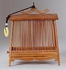 Antique Chinese Bamboo Cricket Cage, Circa 1880