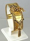 Baume Mercier 14K Gold Diamond Sapphire Flip Watch