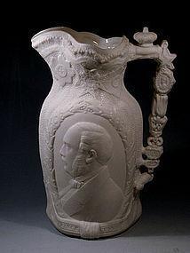 Antique Queen Victoria Prince Albert Royal Pitcher