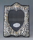 English Sterling Silver Heart Shaped Frame Ornate