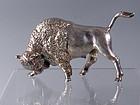 American Bison Sterling Silver Standing Buffalo Figurine