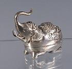 Cambodian 900 Silver Betel Nut Elephant Box Khmer