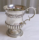 Georgian Sterling Silver Christening Footed Baby Cup