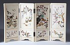 Japanese Ivory Table Shibayama Screen, Meiji Era