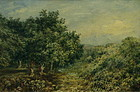John Henry Mole Watercolor Landscape Painting, 19th C