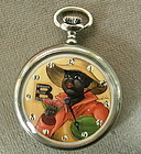 Automaton Pocket Watch Black Man Watermelon C 1925