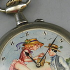 Silver Erotic Automaton Pocket Watch Gardener Grow