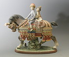 Lladro Valencian Children Porcelain Figurine Retired