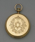 American Watch Co 18K Gold P S Bartlett Pocket Watch