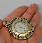 Longines 14K Gold Roulette Wheel Pocket Watch