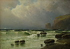 Harrington Fitzgerald Seascape Oil Painting, 19C