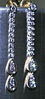 18K Yellow and White Gold Diamond Dangle Earrings