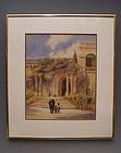 19th C Scottish Watercolor Corsica, James Paterson