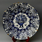 Porcelain Blue White Charger Johannes de Mol 18th C