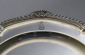 Sterling Saudi Arabia Plate Charger Royal Monogram