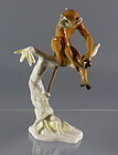 Vintage Hutschenreuther Porcelain Monkey Figurine Germany