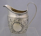 Antique Georgian Sterling Silver Creamer Pitcher, Circa 1820-30