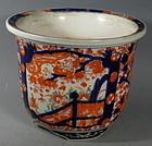 Antique Japanese Porcelain Imari Jardiniere Cache Pot Planter